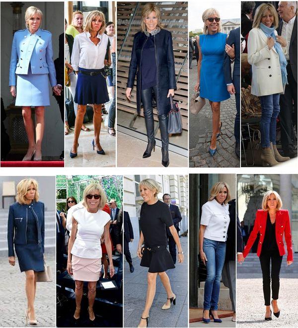 divat a politikában Brigitte Macron