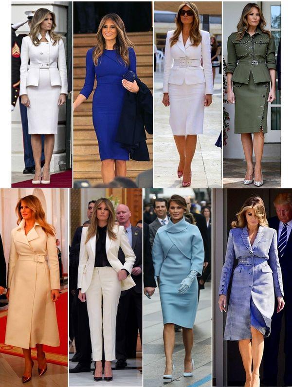 divat a politikában Melania Trump