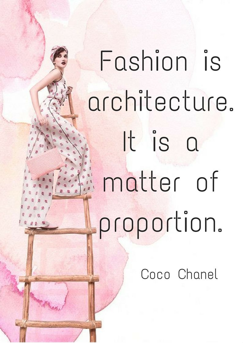 quotes Fashion is architecture