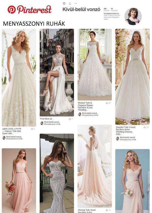 Menyasszonyi ruhák pinterest
