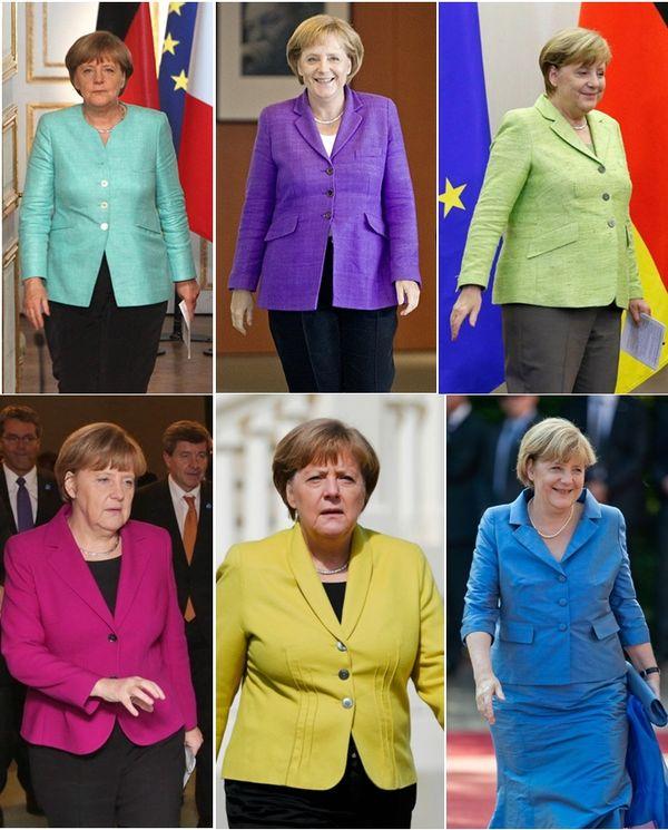 divat a politikában Angela Merkel