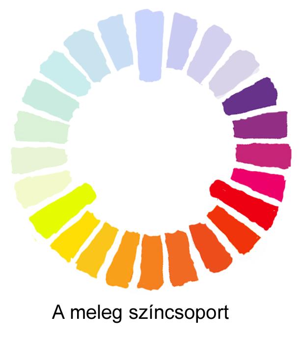 meleg színek