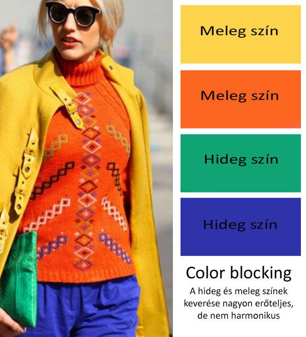 színek keverése color blocking