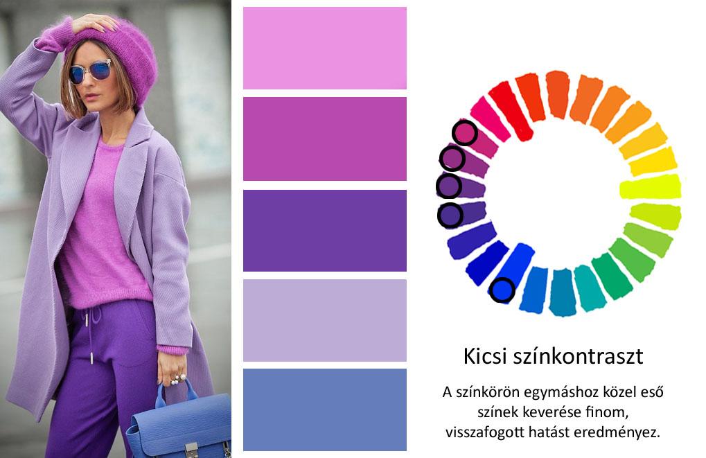 színek keverése kicsi színkontraszt