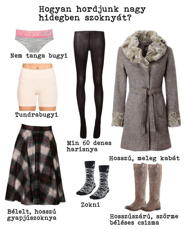téli meleg szoknya