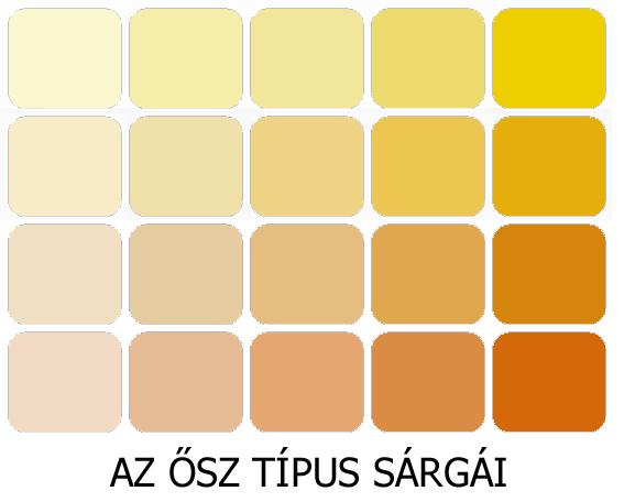 meleg színek az ősz sárgái