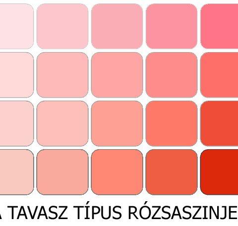 meleg színek a tavasz rózsaszínjei