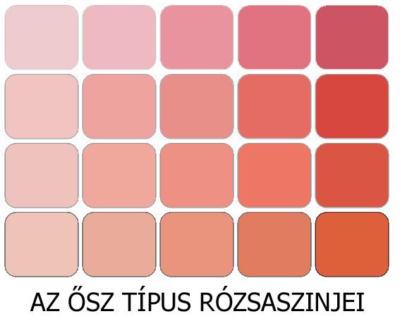 meleg színek az ősz rózsaszínjei