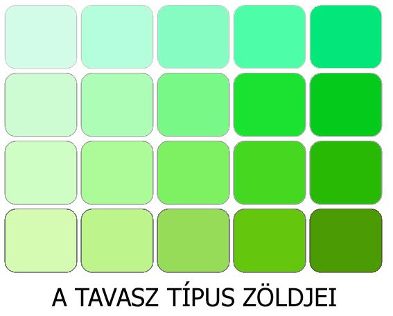 meleg színek a tavasz zöldjei
