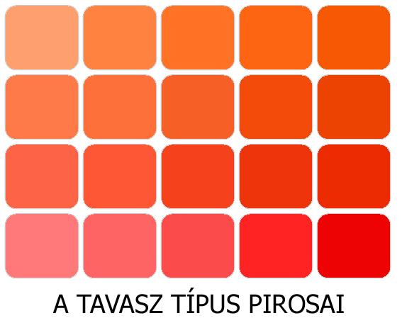 meleg színek a tavasz pirosai
