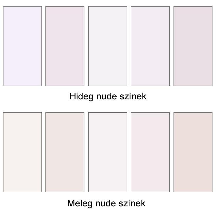 nude szín variációi