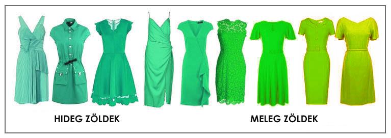 Hideg színek és meleg színek zöldek