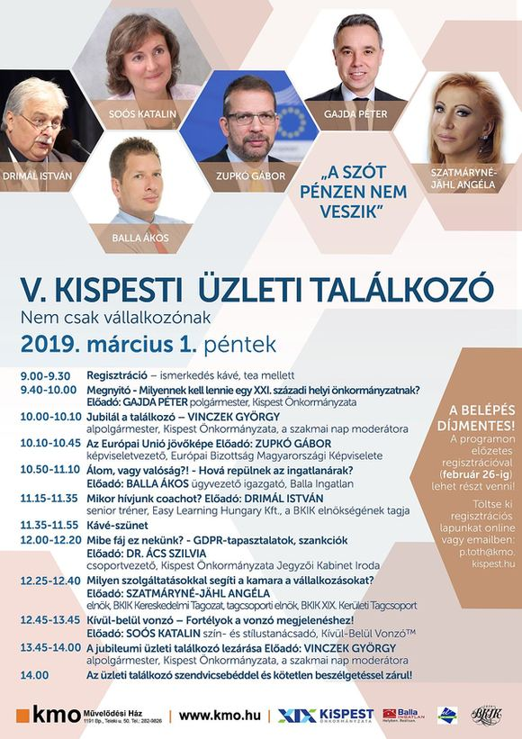 Kispesti üzleti találkozó 2019 s