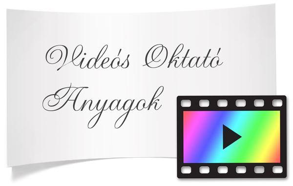 videós oktató anyagok kártya